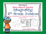 4th Grade Science & Reading Integration Task Cards
