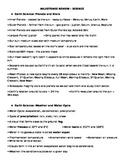 4th Grade Science Milestones Review