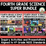 4th Grade Science NGSS Super Bundle:  Activities and PowerPoints