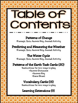 4th Grade Science: Patterns of the Earth (TEKS-based Unit 6)