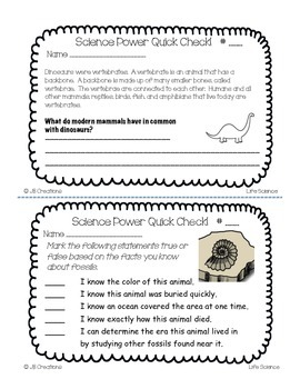4th Grade Science Quick Check Spiral Review Set (NGSS/Ohio Model Standards)