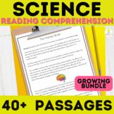 4th Grade Science Reading Comprehension Passages Bundle Pr