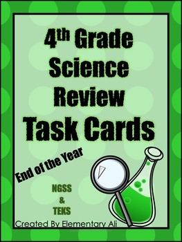 4th Grade Science Review Task Cards