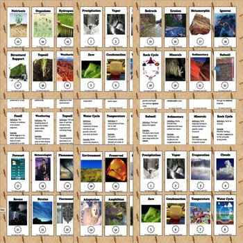 4th Grade Science Review- Vocabulary Trading Cards
