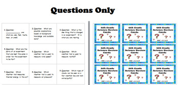 4th Grade Science SOL Review Cards - 4 sets of 90 cards: task cards, QR cards