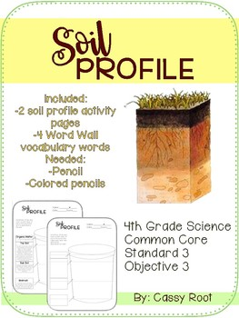 4th Grade Science Soil Profile Coloring and Labeling Pages
