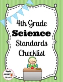 4th Grade Science Standards Checklist (NGSS aligned)