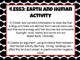 Tennessee 4th Grade Science Standards- Earth and Human Activity