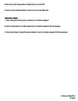 4th Grade Science Study Guide Ecosystems