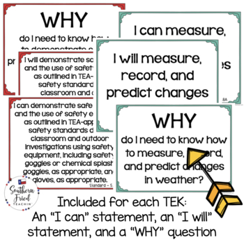 4th Grade Science TEKS - UPDATED