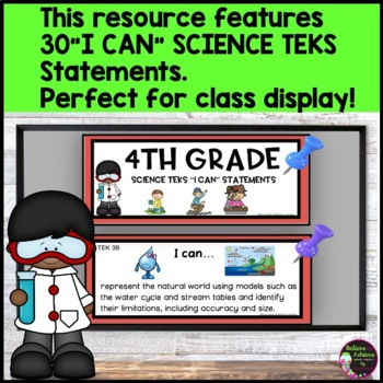 4th Grade Science TEKS I CAN Statements (*** New Streamlined TEKS!)