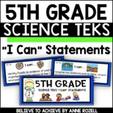 5th Grade Science TEKS I CAN Statements (*** New Streamlined TEKS!)