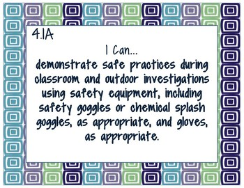4th Grade Science TEKS- I Can Statements