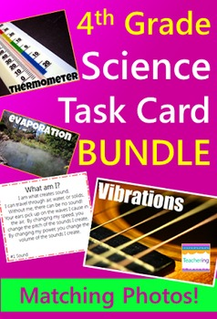 4th Grade Science Task Card BUNDLE {with photos}