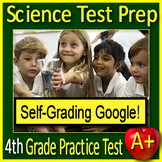 4th Grade Science Test Prep Practice Test - SELF-GRADING GOOGLE FORMS - NGSS