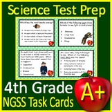4th Grade Science Test Prep Task Cards: NGSS Next Generation Science Standards