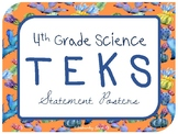"""4th Grade Science TEKS """"I Can"""" Statement Posters {Crazy Cactus Theme}"""