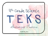 """4th Grade Science TEKS """"I Can"""" Statement Posters STREAMLINED {Cool Cactus}"""