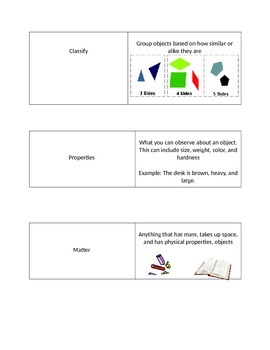 4th Grade Science Word Flashcards