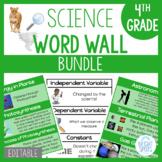 4th Grade Science Word Wall BUNDLE