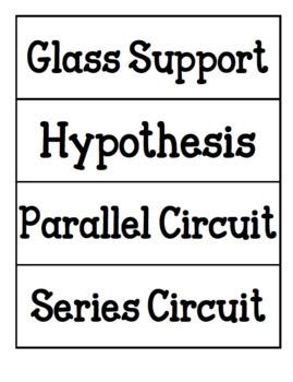 4th Grade Science Word Wall - ALCOS