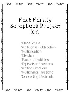 4th Grade Scrapbook Math Projects