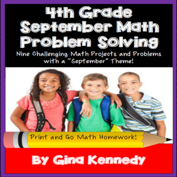4th Grade September Math Projects, Problem-Solving