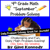 Daily Problem Solving for 4th Grade: September Word Problems (Multi-step)