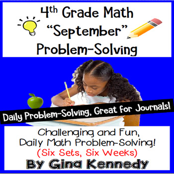 Daily Problem Solving for 4th Grade: September Word Proble