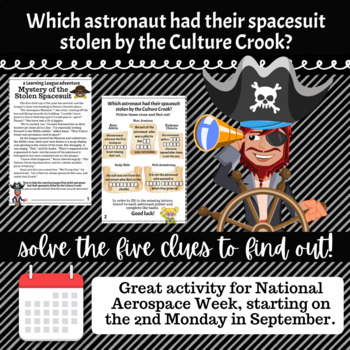 4th Grade September Reading Adventure- Mystery of the Stolen Spacesuit