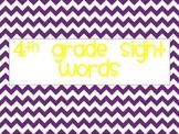 4th Grade Sight Words Chevron