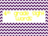 4th Grade Sight Words Chevron