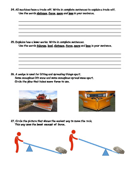 4th Grade Simple Machines Test