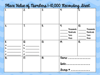4th Grade Singapore Math Style Place Value Task Cards - TEKS & CC BASED!
