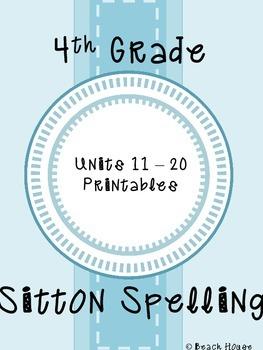 4th Grade Sitton Spelling - Units 11-20