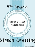 4th Grade Sitton Spelling - Units 21-33