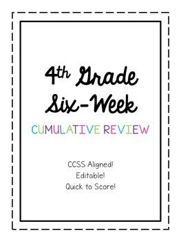 4th Grade Six Week Cumulative Review