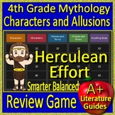 4th Grade Smarter Balanced Test Prep Greek Mythology Allusions Review Game SBAC