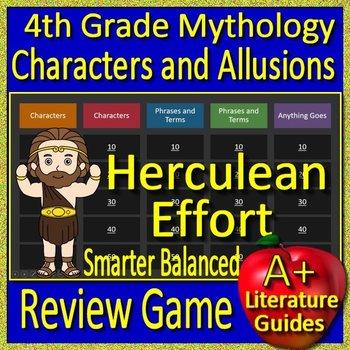 4th Grade Smarter Balanced Test Prep Greek Mythology Allusions Game SBAC CAASPP