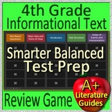 4th Grade Smarter Balanced Test Prep Informational Text Non-Fiction Review Game