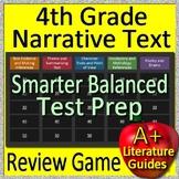 4th Grade Smarter Balanced Test Prep Reading Literature + Narrative Review Game