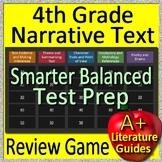 4th Grade Smarter Balanced Test Prep Reading Literature + Narrative Review Game