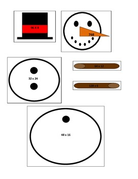 Winter - 4th Grade Snowman Multiplication Game for Common Core
