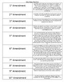 4th Grade Social Studies Bill of Rights Flap Book