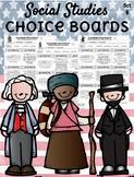 **EDITABLE** Social Studies Choice Boards - Set B