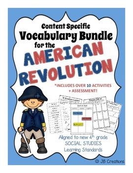 4th Grade American Revolution Content Specific Vocabulary