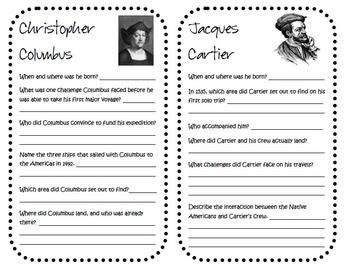 "4th Grade Social Studies GPS ""Discovering Famous European Explorers"" Booklets"