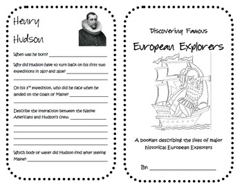 "4th Grade Social Studies GPS ""Discovering Famous European Explorers"" Booklets"