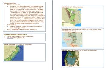 4th Grade Social Studies Florida Standards Assessment FSA Study Guide