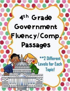4th Grade Social Studies Fluency Passages {Government}